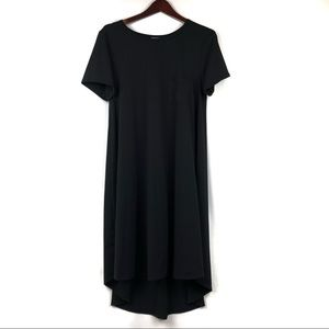 LuLuRoe | Carly Dress Unicorn Solid Black Size M